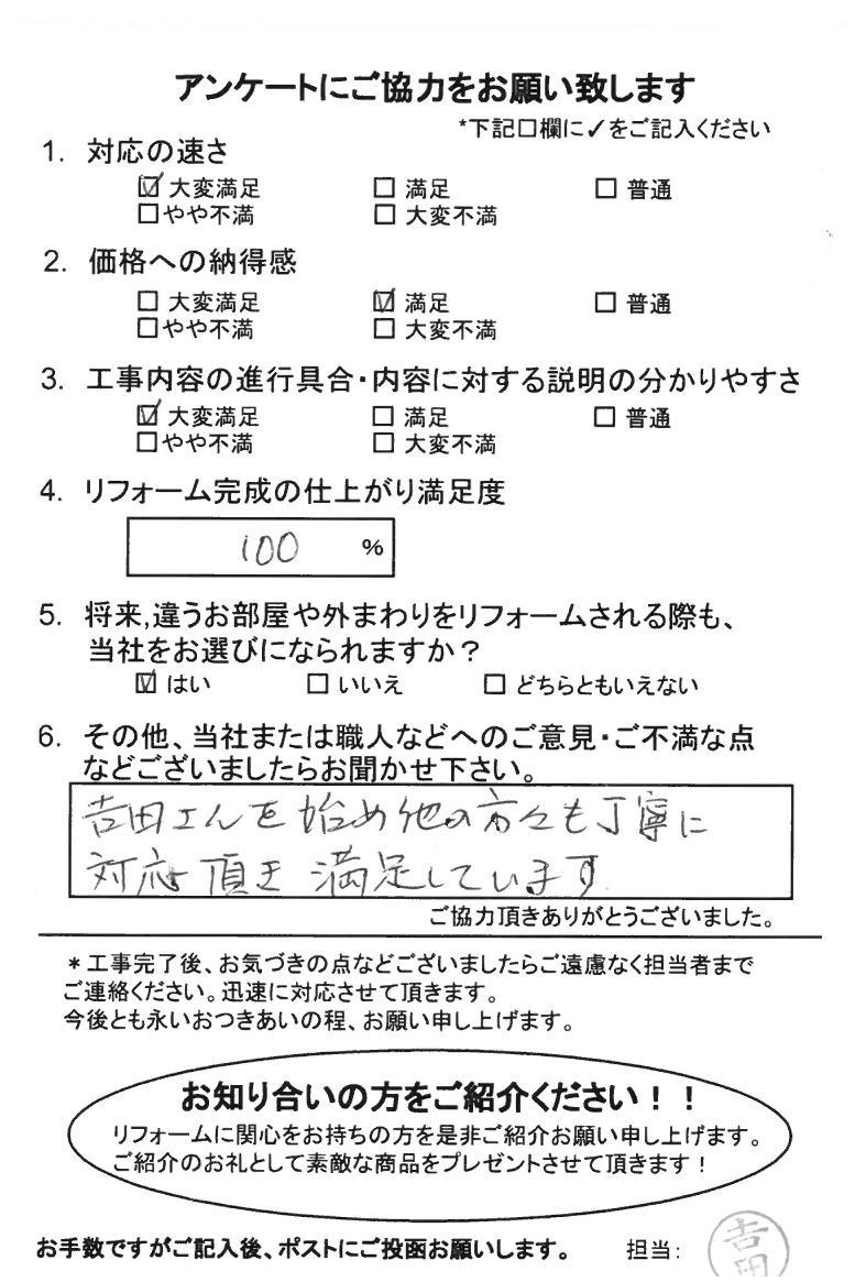 ノアテックリフォームお客様満足度アンケート(155)
