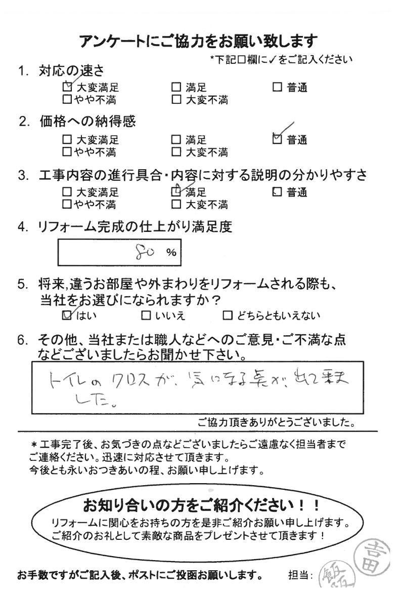 ノアテックリフォームお客様満足度アンケート(156)
