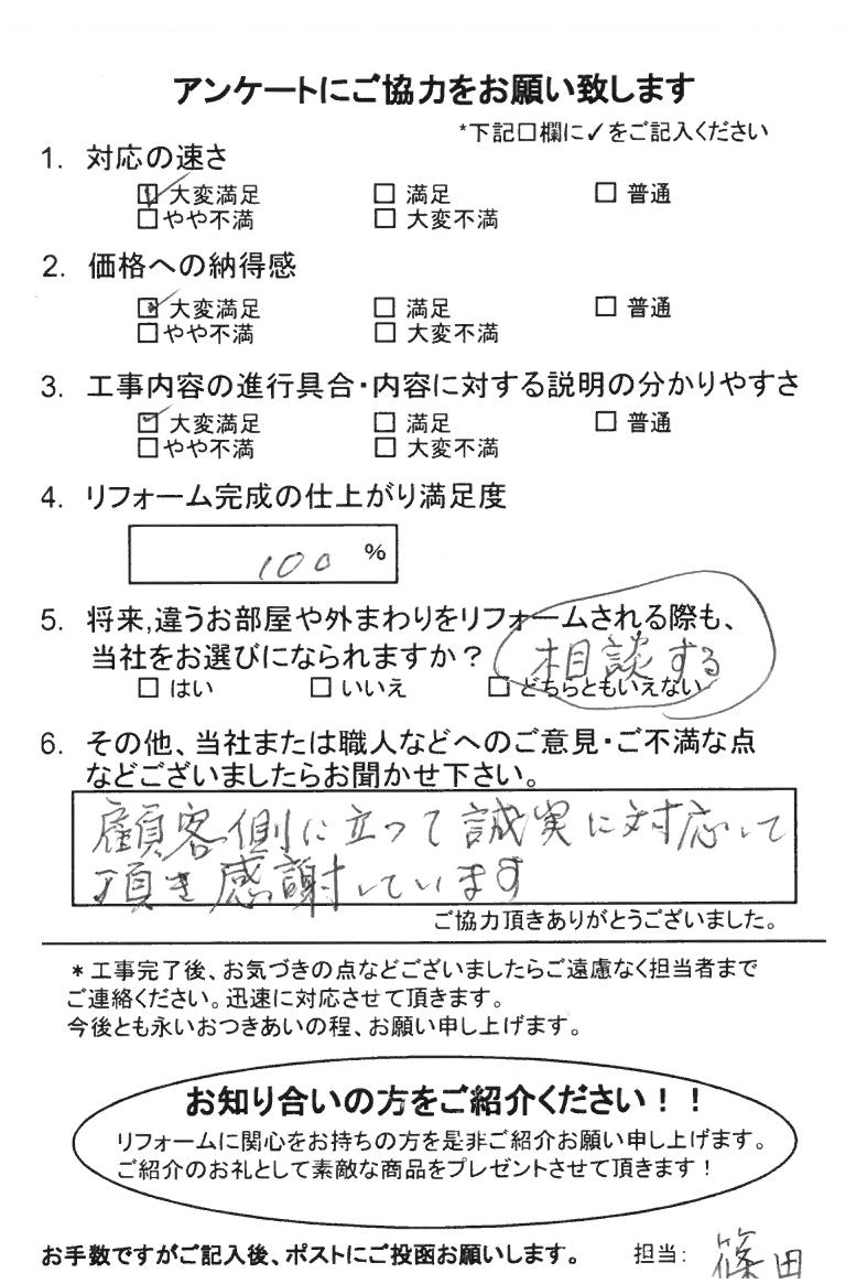 ノアテックリフォームお客様満足度アンケート(189)