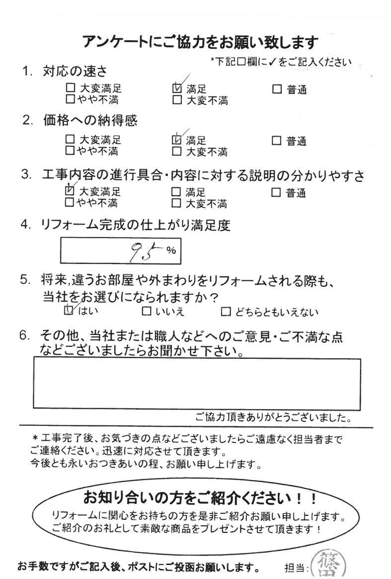 ノアテックリフォームお客様満足度アンケート(194)